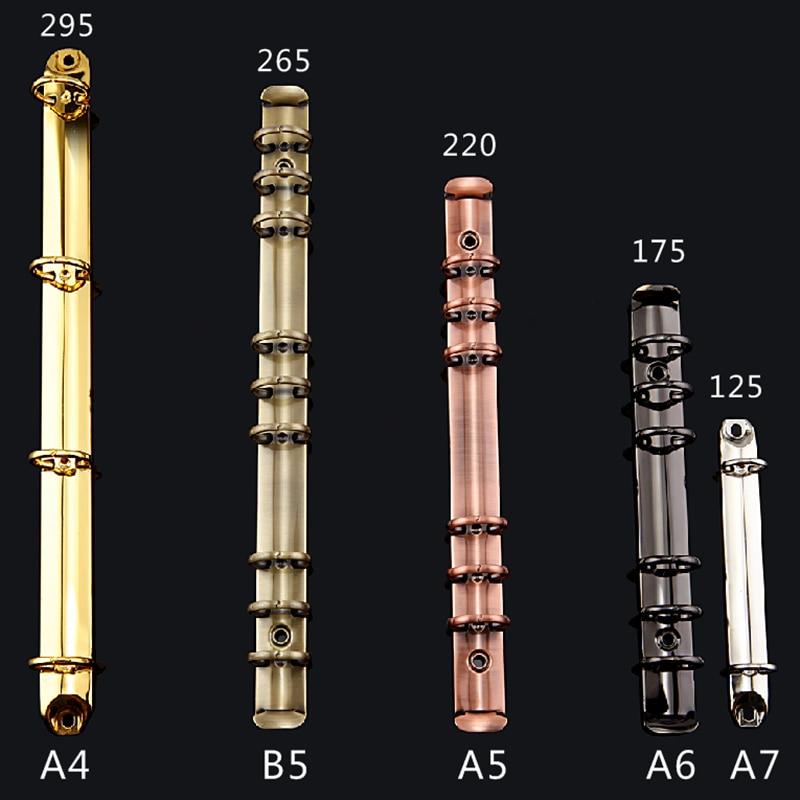 A4-A7 B5 Gold Metal Binding Clips Sliver Binder Clip Loose-leaf Binder File Folder Hoop DIY Album Scrapbook Circle Ring Binders