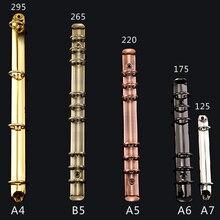 A4-A7 B5 Gold Metal Binding Clips Sliver Binder Clip Loose-leaf File Folder Hoop DIY Album Scrapbook Circle Ring Binders