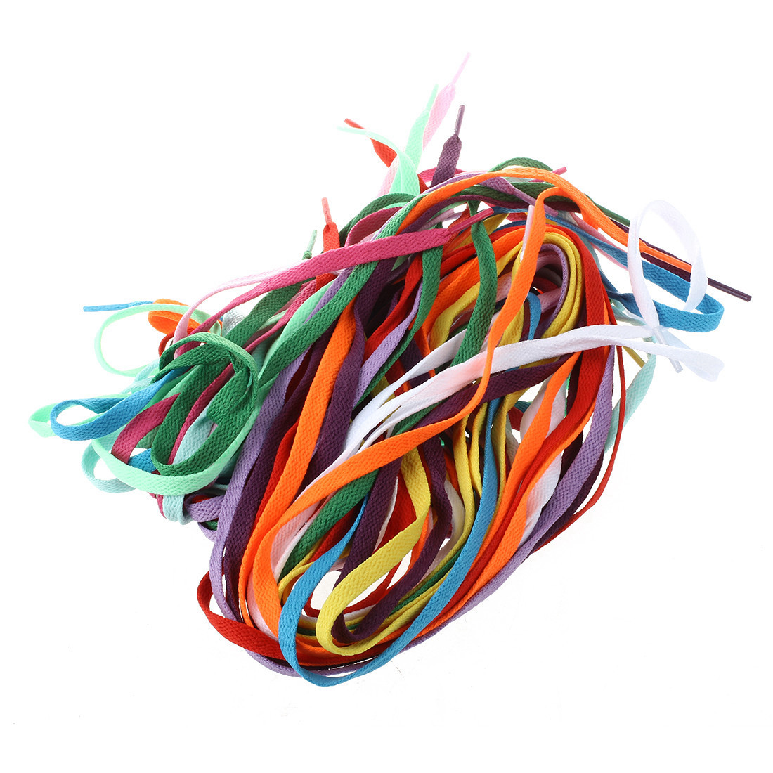 Fashion Boutique 12 Pair of Broad laces For Shoes Boots - 8mm - 12 Colors ...