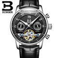2017 роскошные механические часы BINGER Tourbillon  дизайнерские часы  часы высшего качества с датой  стальные часы для мужчин