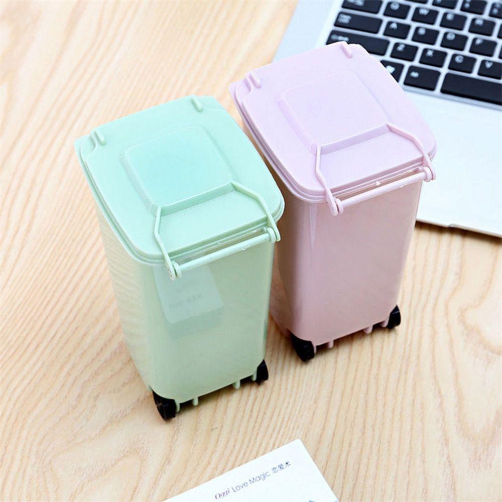 Small Mini Portable Cute Rubbish Bin Garbage Can Office Accessories ...