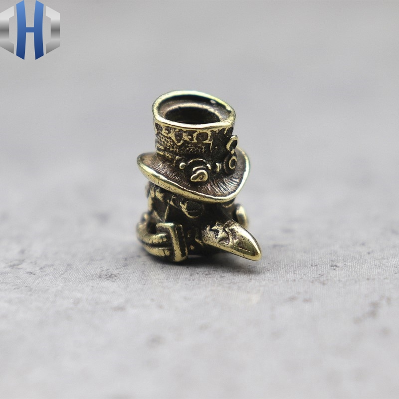 Copper Knife Pendant EDC Tool Pendant Flash Pendant Umbrella Pendant Doctor Brass Edition Knife Beads