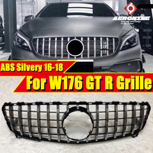 W176 A45 Look grille grill ABS Silvery A Class A160 A180 A200 A220 A250 Sport GTS style Front grills Without sign 2016-2018