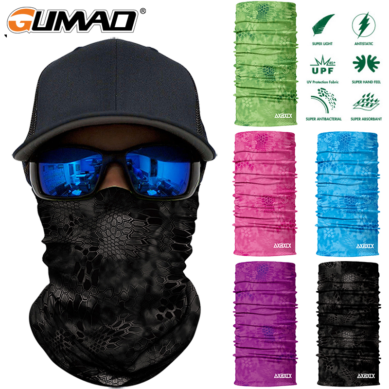 Camouflage Seamless Magic Neck Gaiter Face Mask Shield Cycling Fishing Military Army Tactical Bandana Balaclava Scarf Men Women