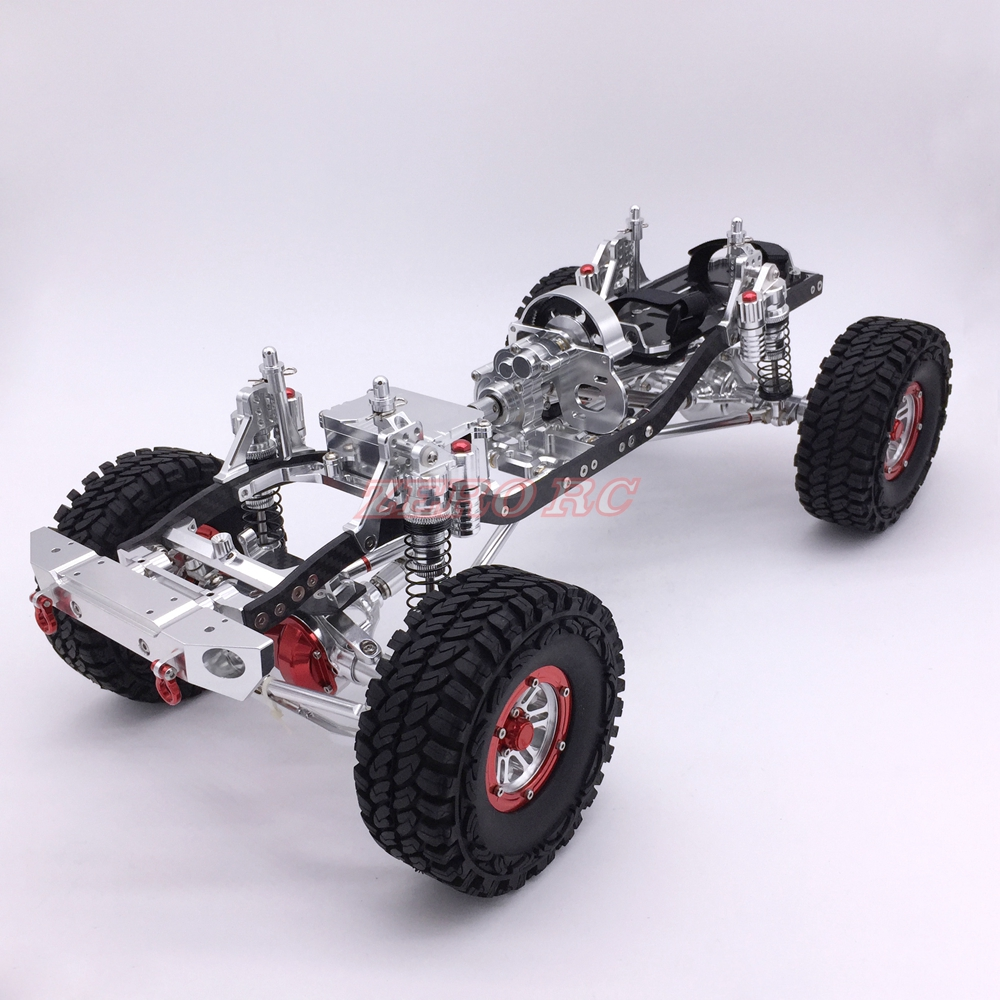 Cool Racing CNC 1 10 Rock Crawler Aluminum Axial SCX10 Chassis W Carbon Frame Wheelbase 313mm
