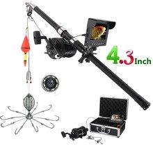4,3 дюймовый цветной монитор, комплект для подводной рыбалки, видео камера, 8 шт., ИК-светодиодный фонарь со взрывными рыболовными крючками