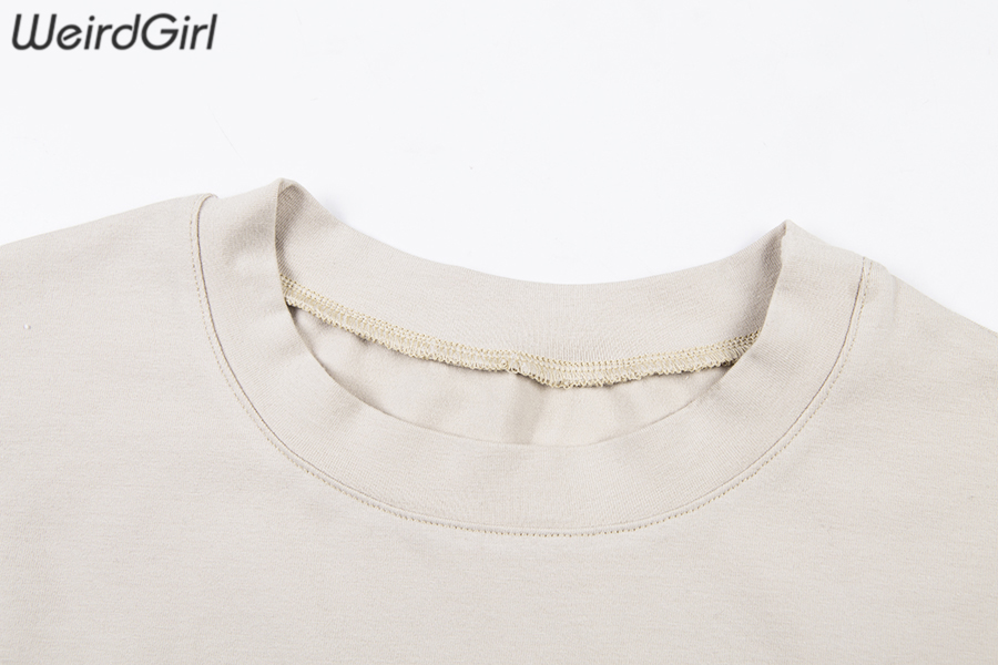 Weirdgirl Women Baby Angel Printing Casual Fashion T-shirts letter Short Sleeve O-Neck Khaki Loose Female Tees Summer New 19 8