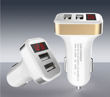 Car Charger Digital Display Dual USB Port for iPhone iPad Samsung Xiaomi Phone Charging Adapter 2.1A Car-charger Double USB