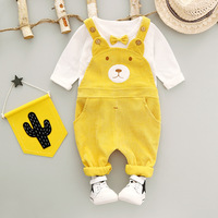 Children S Wear Autumn Summer Baby Girl Boys Sports Leisure Suit T Shirt Suspender Trousers Two