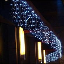 Наружное украшение, 5 м, свисает, 0,4-0,6 м, занавеска, сосулька, светодиодные гирлянды, 220 В/110 В, для сада, Рождества, гирлянда, декоративные огни