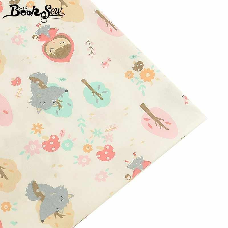 Booksew  Cartoon Design 100% Cotton Fabric Telas Por Metro Tissu  DIY Quilting For Baby Bedsheet Sewing Cloth Patchwork Home