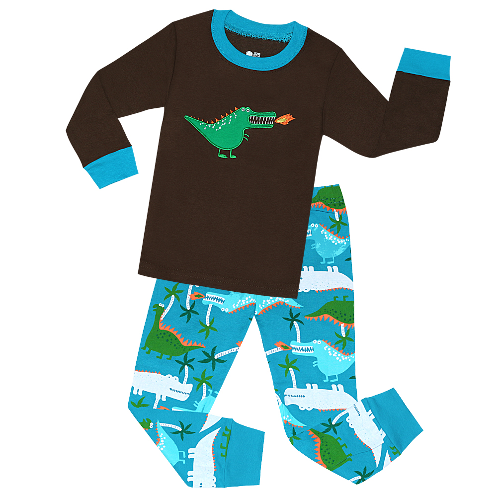 101978965 Aliexpress.com   Buy Boys Dinosaur Sleepwear For 2 7 Years Kids ...