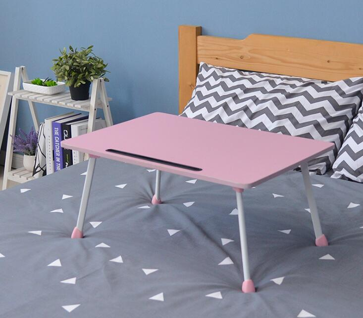 Bed Laptop Desk Portable Computer Desk Lazy Desk Small Table Use On Bed Simple Design Folding Movable 40x60cm