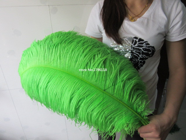 50 PCS natural green ostrich feather 70 75 cm 28 to 30 inches feathers ostrich plume