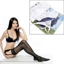 Sexy Lady Women Lace Suspender Garter Belt G-String Thong Set for Stocking