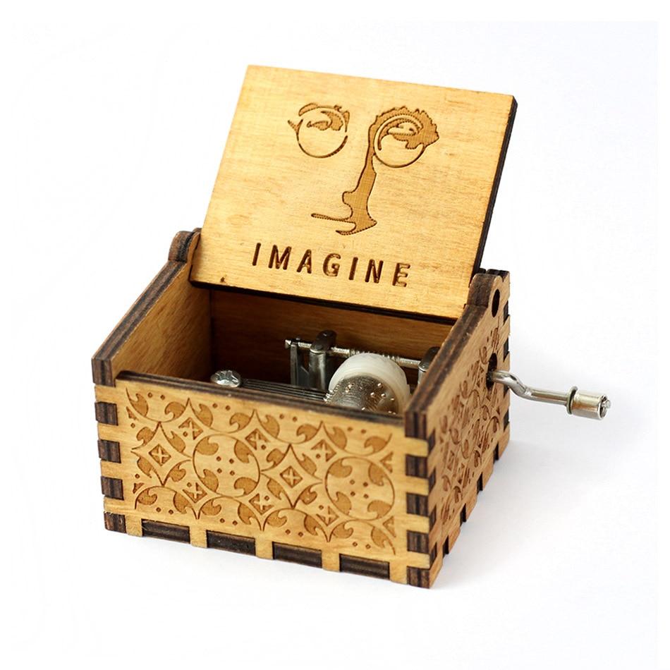 Деревянная музыкальная шкатулка для игры в трон, подарок на Рождество, день рождения, год, подарок для детей - Цвет: Imagine John