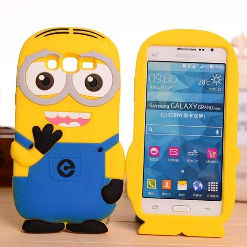 3D Cute Minions Fundas silicone Case Samsung Galaxy S3 Neo S4 S5 Mini S6 S7 edge plus A3 A5 A7 A8 2016 J1 J2 J3 J5 J7 Cover  -  Yi Xing digital accessories store