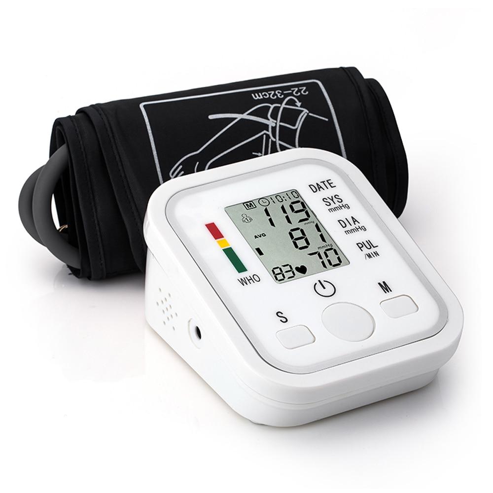 Portátil tonômetro monitor de pressão arterial doméstico esfigmomanômetro braço banda tipo digital eletrônico mini medidor de pressão arterial