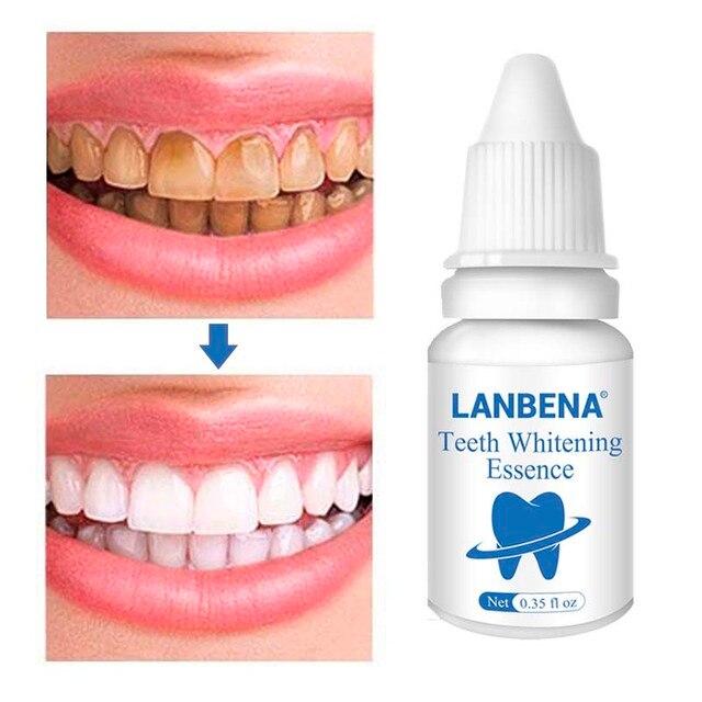 Los dientes la esencia de blanqueamiento en Polvo Oral higiene limpieza suero elimina la placa Manchas diente blanqueador Dental herramientas pasta de dientes LANBEN