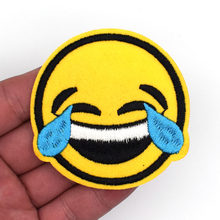 Free Shipping New arrival 2pcs Cry Emoji patches Cry Iron On Patch DIY  accessory Applique Clothes Patch wholesale 381c2c0c7860
