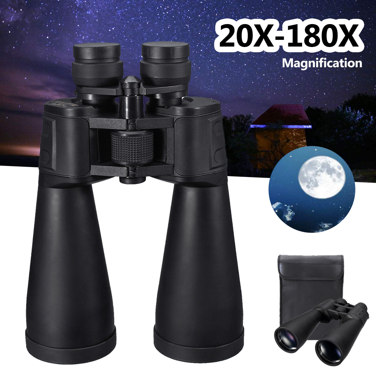 20X-180X 85mm High Definition Binoculars Telescope HD Waterproof Low Light Night Vision 1000M for Outdoor Birdwatching Hunting стоимость