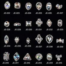 10pcs/Lot Clear Nail Glitter Rhinestones Crystal Glass Stones DIY Strass Manicure Tool Art Decorations 3D Pendant Jewelry