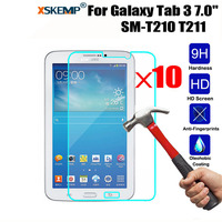 XSKEMP 10Pcs Lot 9H Hard 0 3mm HD Protective Film For Samsung Galaxy Tab 3 7