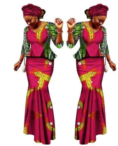 African Women Clothing Sale Cotton 2018 New African Bazin Riche Women Clothing Plus Size M-6XL