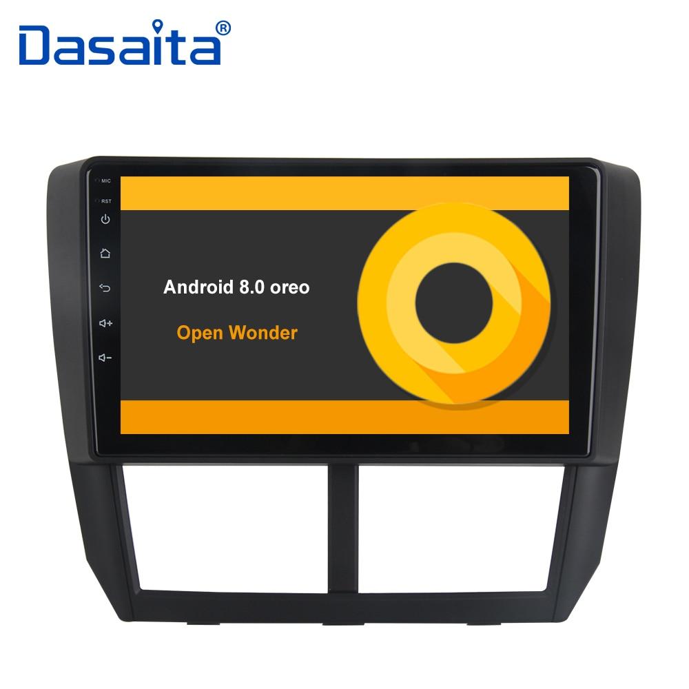 9 Octa base Android 8.0 GPS Intégré 1 din autoradio pour Subaru Forester 2008 2009 2010 2011 2012 Tête unité 4G RAM 32G ROM