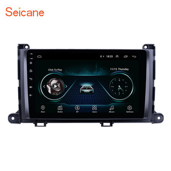 Seicane Android 8.1 2Din 9 Car GPS Navigation Radio Stereo Player For Toyota Sienna 2009-2014 Support SWC Rearview Camera DVR image