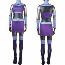Women girls superhero alien Starfire Teen Titans Go! outfit cosplay halloween costume Princess Koriand'r suit xmas birthday gift