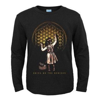 19 diseños, tráeme el horizonte de la marca Rock, Camisa de algodón de manga larga, Camiseta deportiva con estampado de Metal pesado Hardrock, camiseta BMTH