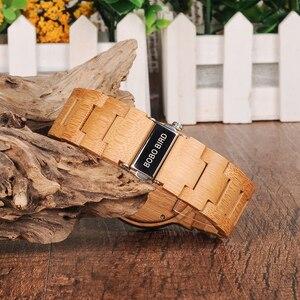 Image 5 - BOBO kuş WP23 basit kuvars saatler tüm orijinal bambu kol saati tarih ekran ile erkekler kadınlar için