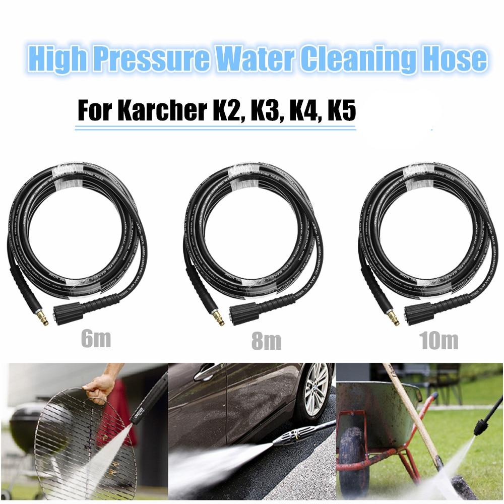 6m/8m/10m High Pressure Water Cleaning Hose Pure Copper for Karcher K2 K3 K4 K5 High Pressure Washer тент для автомобиля k2 k3 k5