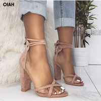 Perixir Summer Sexy Plus Size High Heel Women Sandals Shoes Leather Cross Strap Thin Heel Pumps Single Lady Party Shoes Zip Rome