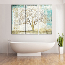 3 Pieces Abstract Tree Painting Canvas Art Wall Painting Home Decor Oil Paintings for Living Room Frameless Modular Painting