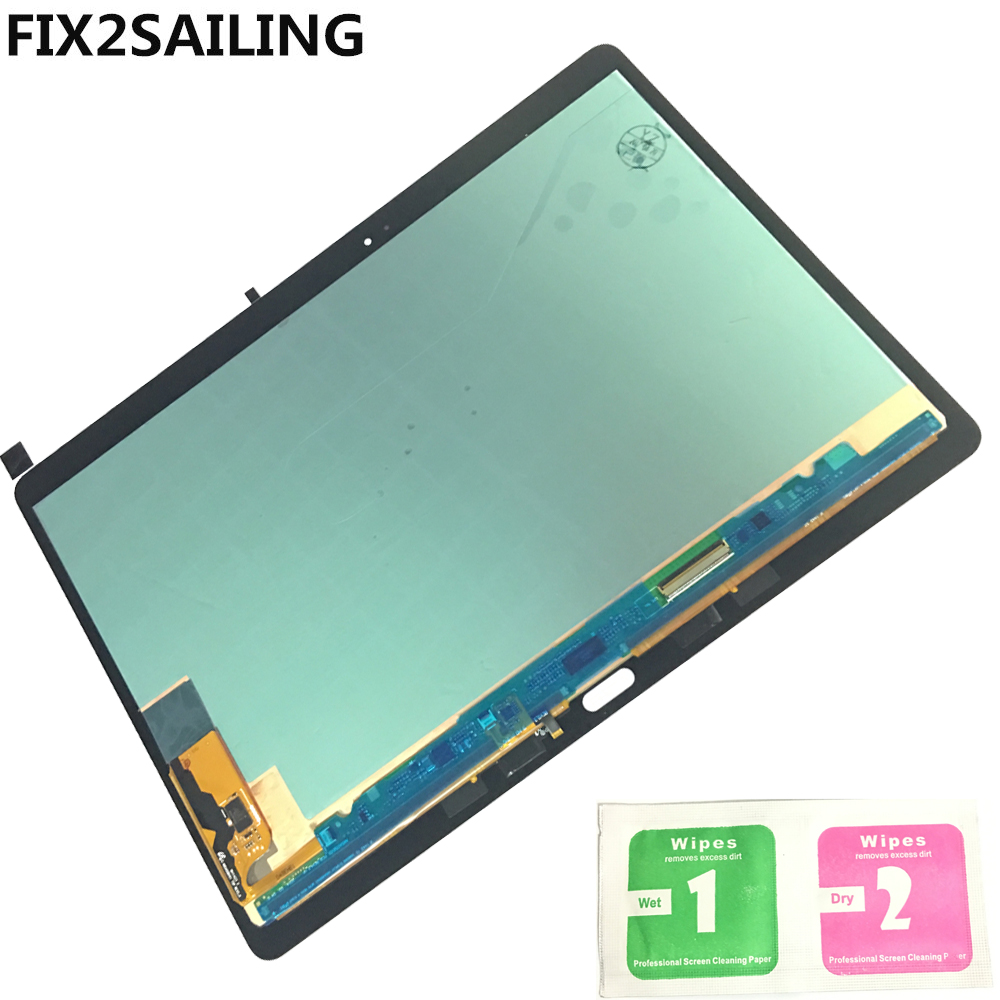 Display LCD originale con Touch Screen Digitizer Sensori Pieno Assemblea Panel Per Samsung GALAXY Tab S T800 T805 SM-T800 SM-T805