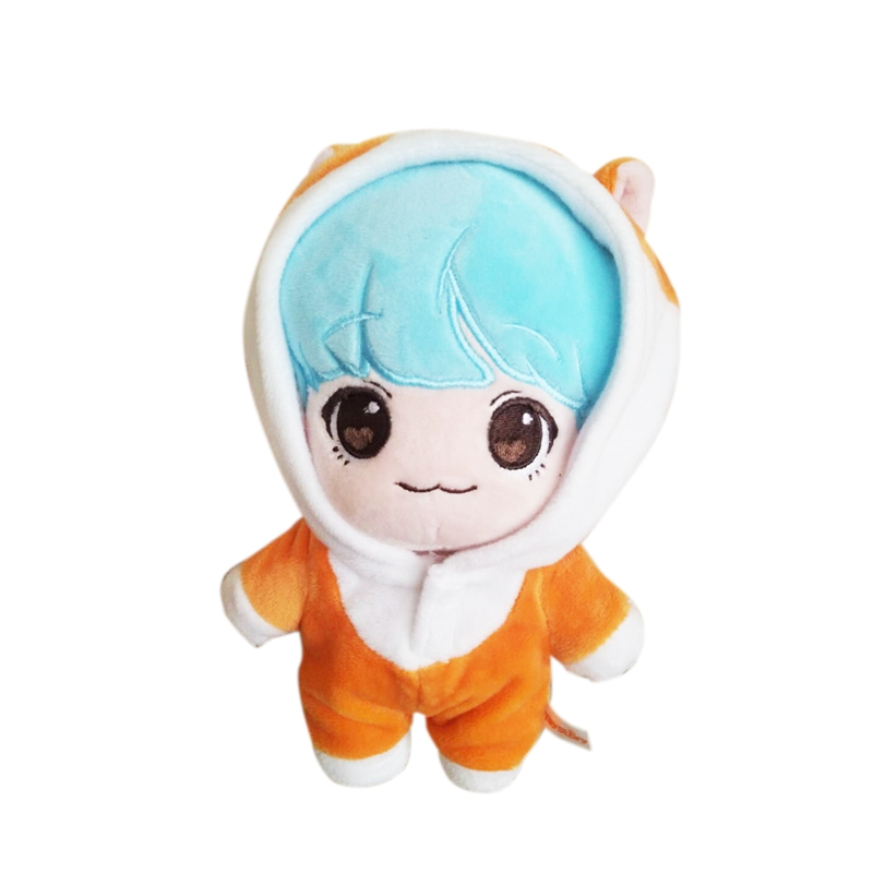KPOP Bangtan Boys BTS Suga 20cm/8 Cute Plush Toy Stuffed Doll with Clothes Gift Collection printio min yoongi suga bts