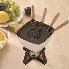 300 мл плавильный горшок для фондю для масла, сыр конфеты, сделай сам, фруктовый шоколад, горячий горшок, кухонный керамический нагрев, плавильная печь и свечи, вилки для печки
