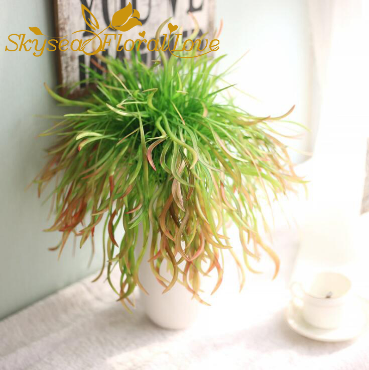 Plastic plant grass artificial plants pvc grass home table lanscape plastic plant grass artificial plants pvc grass home table lanscape decor artificial flowers arrangement fake grass in artificial dried flowers from home workwithnaturefo