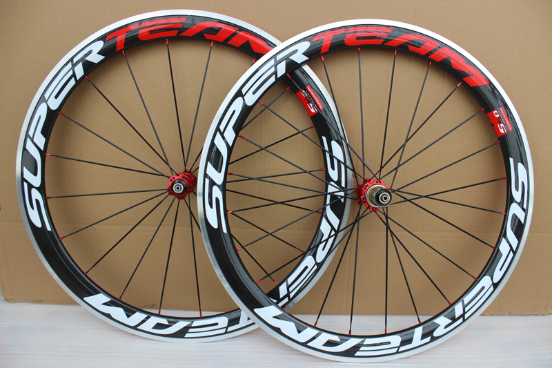 700C Carbon Wheels 50mm Clincher Carbon Bicycle Wheelset with Alloy Brake China Road Bike Wheel aluminum