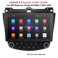 Car Radio Multimedia Android9.0 for Honda Accord 7 2003 2007 car audio stereo player gps Navigation wifi bluetooth 2din headunit
