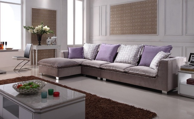 Popular Home Fabric Sofa Colorful Fabric Cushions Handmade Sewed