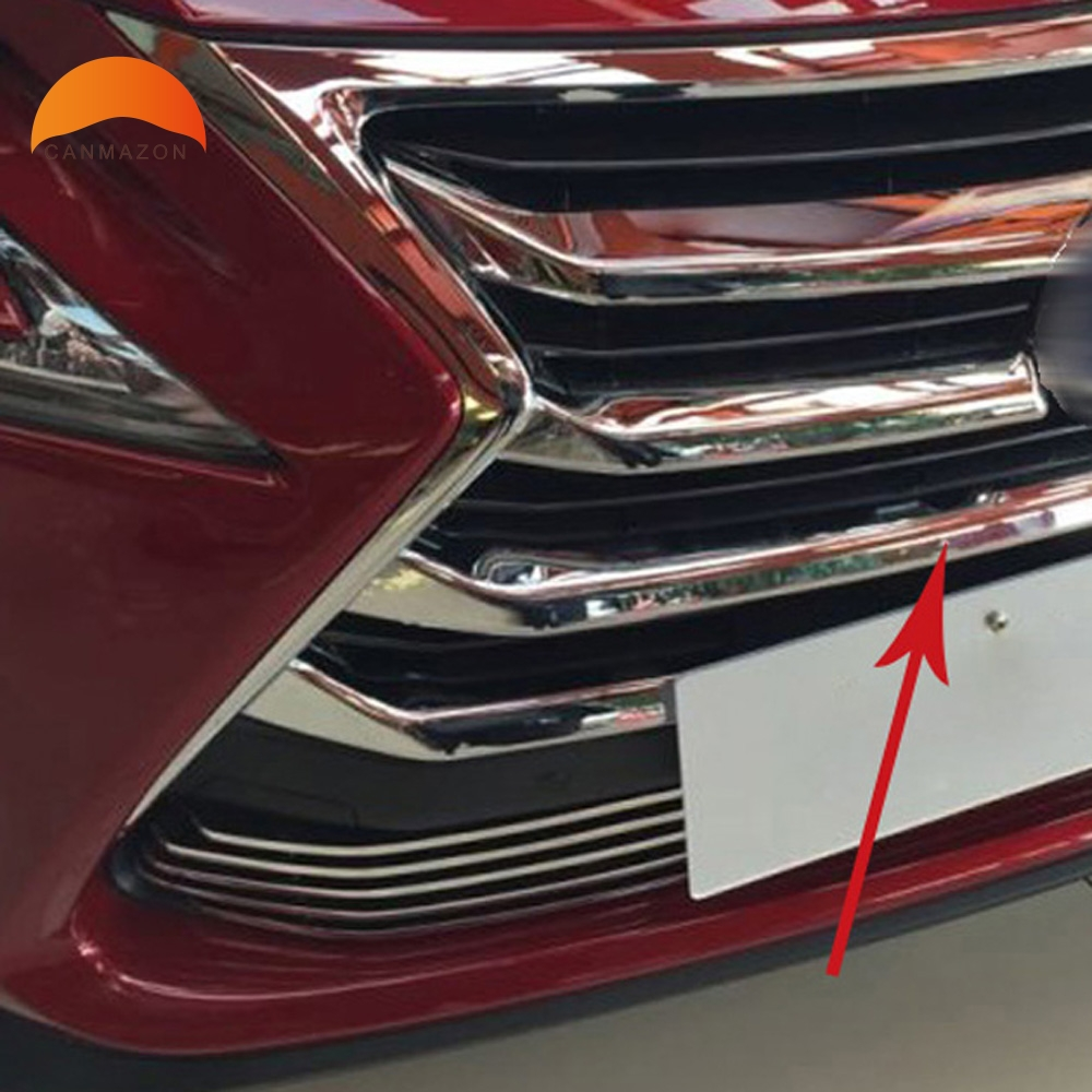 For Lexus NX200 NX300H 2015 2016 ABS Chrome Front Grille Around Trim Front Center Grill Grille