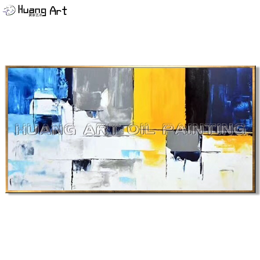 High Skill Hand-painted Quality Color Lump Abstract Landscape Oil Painting on Canvas Modern for Wall Decor