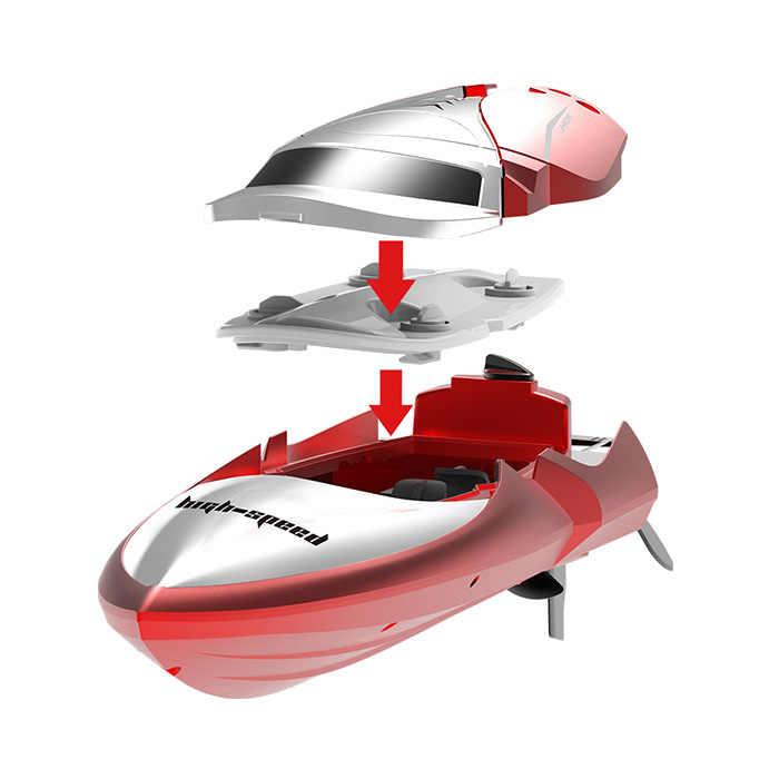 TKKJ H106 2.4 gam Tốc Độ Cao RC Thuyền 7.4 v 600 mah Pin LCD Hiển Thị Điều Khiển Từ Xa 2.4 ghz không dây RC Racing Tàu Trẻ Em Đồ Chơi