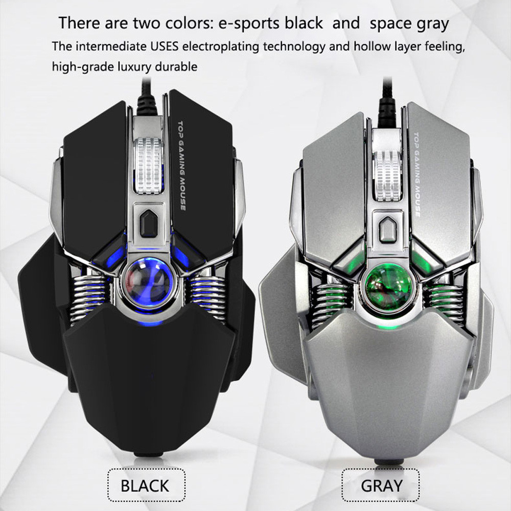 Wired Gaming Mouse 2750dpi Professional 9buttons Rgb Led Optical Mice For Pc An Indispensable Sovereign Remedy For Home Cable Winder Accessories & Parts