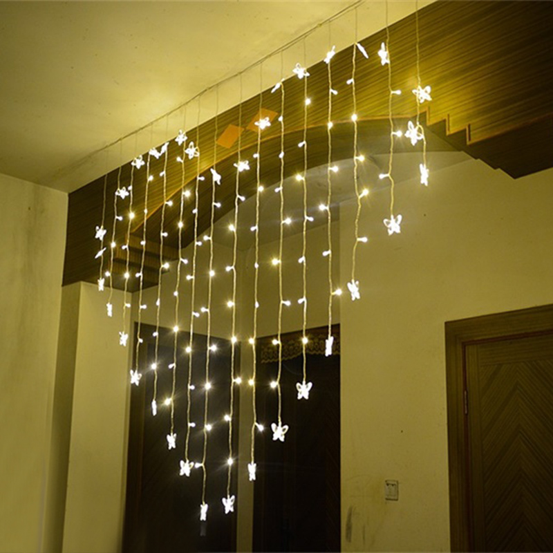 LAIMAIK 2m 124 Led gardin String Garland Romantisk Fairy Light Have - Ferie belysning - Foto 4