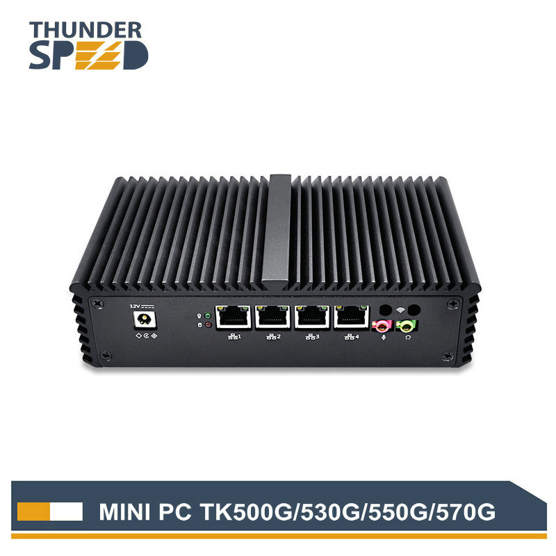 Low Cost Embedded Mini PC 4 rj45 Port Intel 3215U Computer Dual Core 1 COM 2