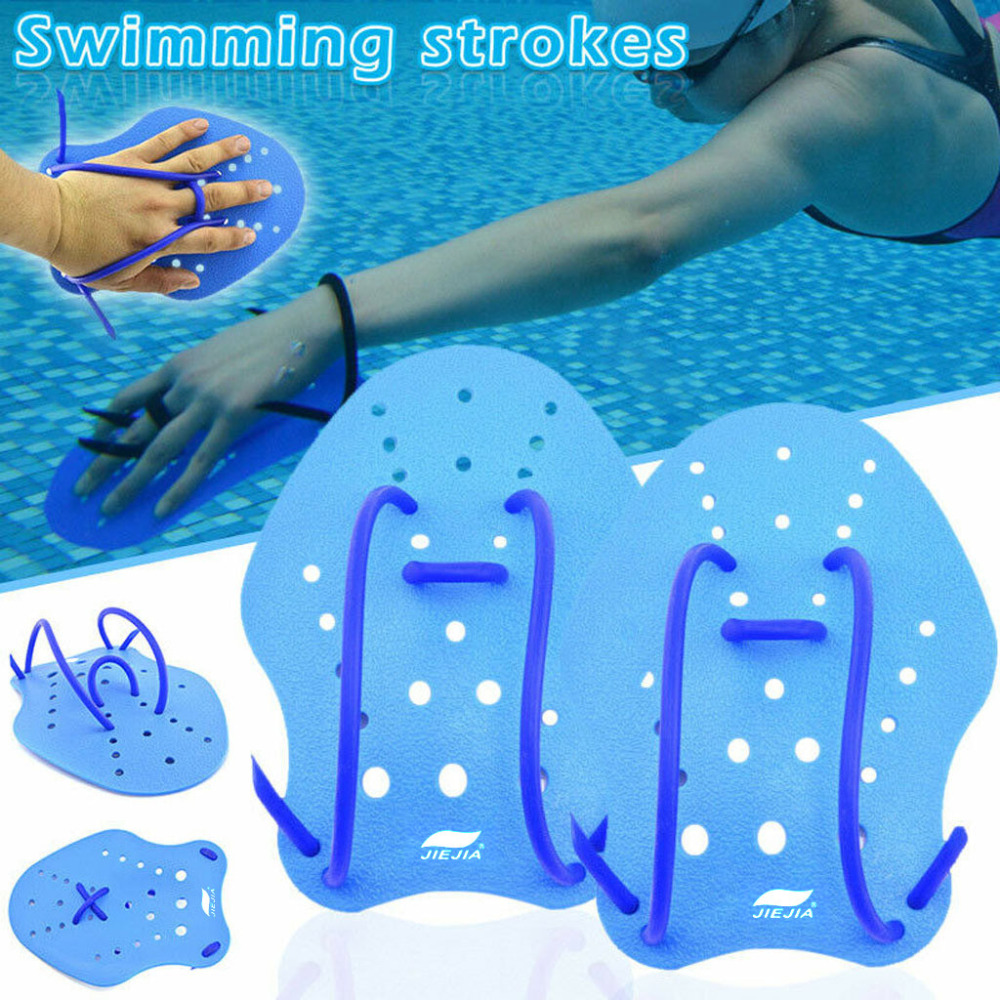 Novetly Swimming Paddles Webbed Gloves Hand Fin Training Diving Paddle Water 6A